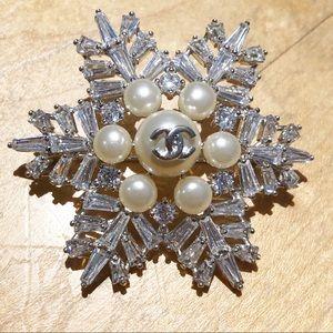 Chanel 2016 costume snowflake brooch